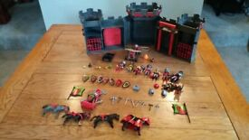 Playmobil portable castle and characters