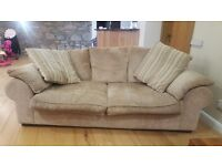 2 x 3 seater sofa and large cushions ex SCS