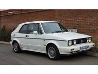 1990/G Volkswagen Golf GTI (MK1) 112 Bhp Cabrio + Alpine White + RARE + Lady Owner for 18 Years +
