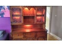 Nathan dresser/display cabinet/sideboard with light QUICK SALE NEEDED