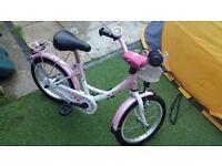 """Vermont Girly Childrens Bike 16"""" pink/white"""