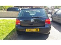 Volkswagen Golf 1.6 SE Auto 5dr 2003.. low mileage.