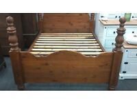 Solid dark wood Four poster Double Bed Frame