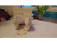 Ivory Monsoon Betsy Satin Tie and Lace Mary Jane Bridal Shoes EU 40, UK 7
