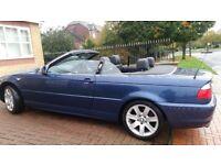 BMW COVERTIBLE AUTO, 3SERIES LONG MOT, LEATHER SEAT REVERSE SENSOR, CD ALLOY BIG BOOT, £1895 ONO