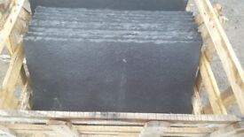 Black limestone slabs
