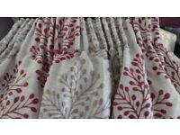 2 Pairs of Lined Quality Curtains