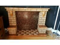 Fireplace surroubd