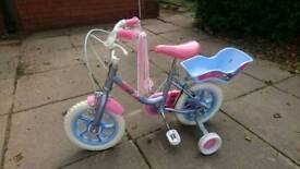 Girls bike perfect for ages 3-7