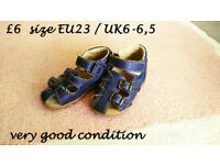 wellies & sandals size 6-7 toddler