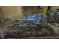 LOVELY GLASS COFFEE TABLE UNUSUAL