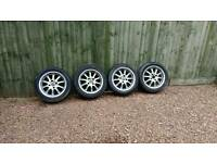 Wolfrace alloys with tyres