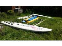 3 windsurfing boards and 6 sails