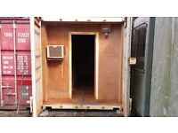 20ft x 8ft shipping container / workshop / stores full electrics & lightings good solid condition