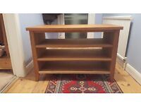 Solid oak tv unit / side table