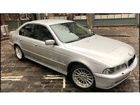 2002 51 Bmw 535i Auto V8 Facelift 245 Bhp Silver With Electric Black Leather Mint Example E39