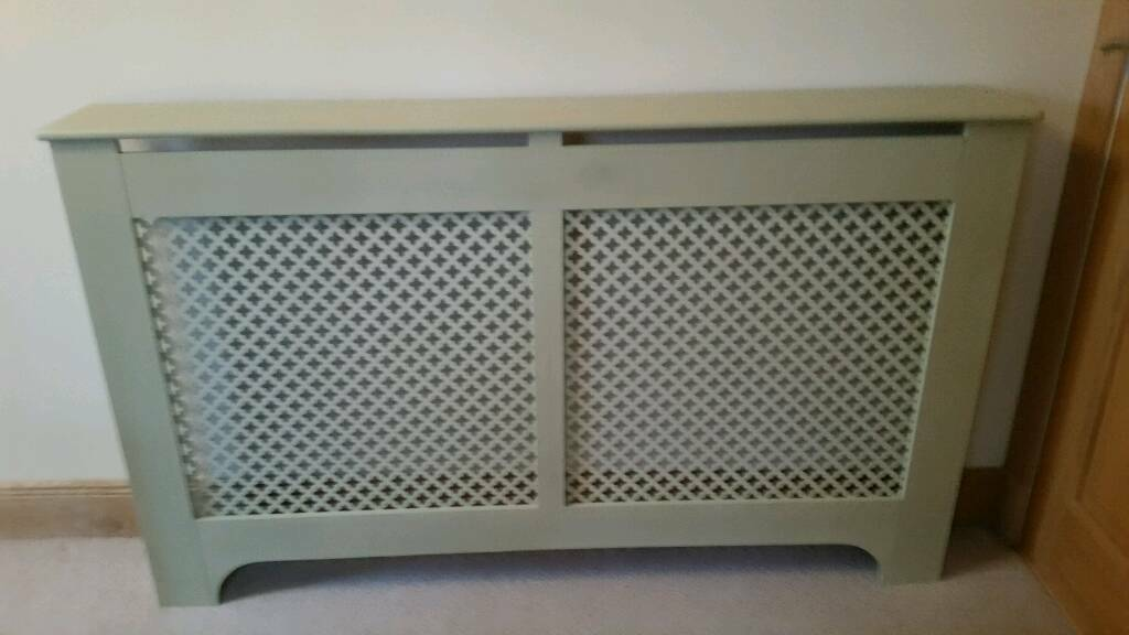 Sage green large radiator cover