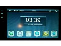 Double din touch screen car stereo