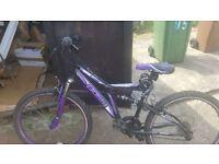 Ladies bike with lock