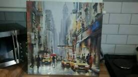 50cm x 50cm New York canvas