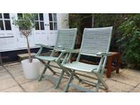 x2 Vintage solid wooded chairs RRP £169.99