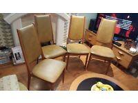 Vintage Retro 4 Dining Chairs Teak Made in Denmark Danish Highback Nyrup Maker
