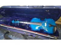 Violin student in blue with bag in good used condition! Can deliver or post