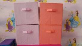 4x fabric storage boxes