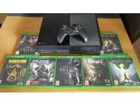 Xbox one 500gb with 7 games, controller and headset