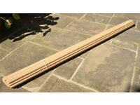 Round Light Hardwood Dowels, 25mm in diameter and 2.4 metres in length