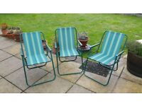 Lightweight Folding chairs, ideal for Fishing / Caravan / Camping / Garden.
