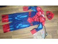 boys spiderman costume age -5-6 yrs