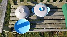 Poole Twintone Sky Blue/Dove Grey Pottery (C104) - REDUCED PRICE to £40