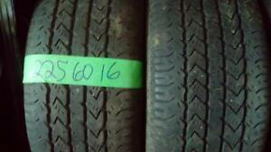 Two 225 60 16 M+S tires