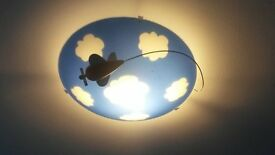 fantastic children's ceiling light - clouds and aeroplane