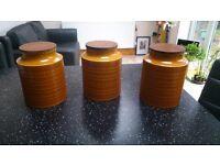 "Retro Hornsea ""Saffron"" Storage Jars"