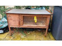 Rabbit hutch plus wire run for garden