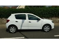 Dacia Sandero, just over 1 year old, low mileage, spare tyre, excellent condition, Gen-3 Glasscoat.