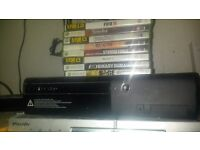 xbox 360 250gb slim and 8 games