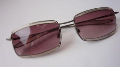 ausgefallene Marken Sonnenbrille Damen NEU Viventy silber Glitzer leicht Größe M