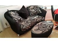 BRAND NEW DFS SILVER BLACK SUITE CAN DELIVER FREE
