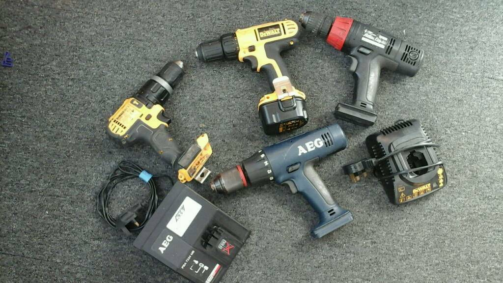 Cordless drill bodies and chargers