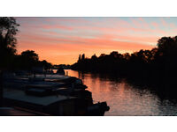Widebeam Houseboat (2bed) on Beautiful Residential Mooring, Surbiton London