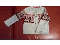 Vintage woolly cardigan age 2-3 yrs
