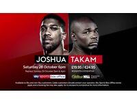 Joshua vs Takam x4 tickets QUICK SALE