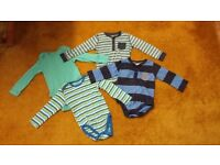 Set of 4 baby boy body long sleeve vest 12-18 months