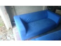 2x Blue Couches Sofa Good Condition (NEED GONE ASAP)