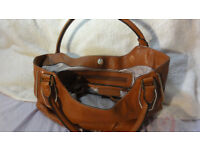 Michael Kors MK Handbag Hand Bag Expandable Leather Genuine (also one Chanel, Jimmy Choo, Prada, )