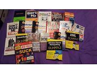 Job Lot Of Computer Books, Web Design, Programming Etc