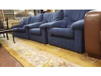 3 Seat Sofa & 2 Arm Chairs In Good Condition